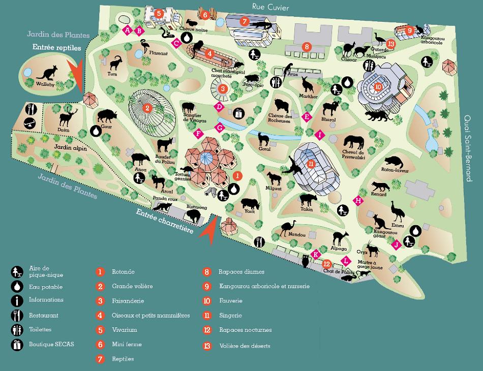 Visite zoo du jardin des plantes guide paris shunrize - Menagerie du jardin des plantes paris ...