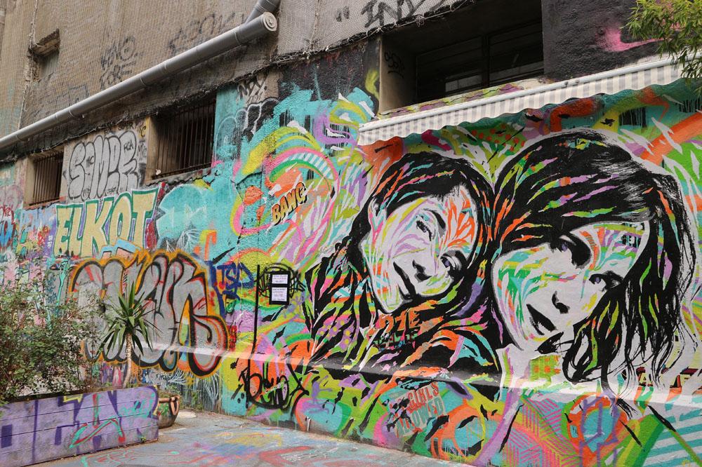 fresque Jo Dibona les frigos Paris 13