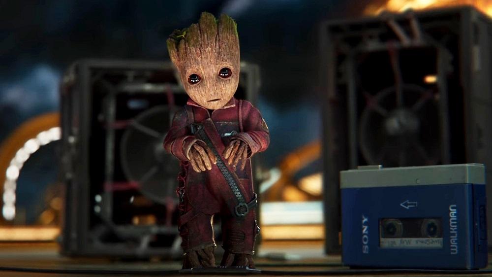 baby groot dans les gardiens de la galaxie 2