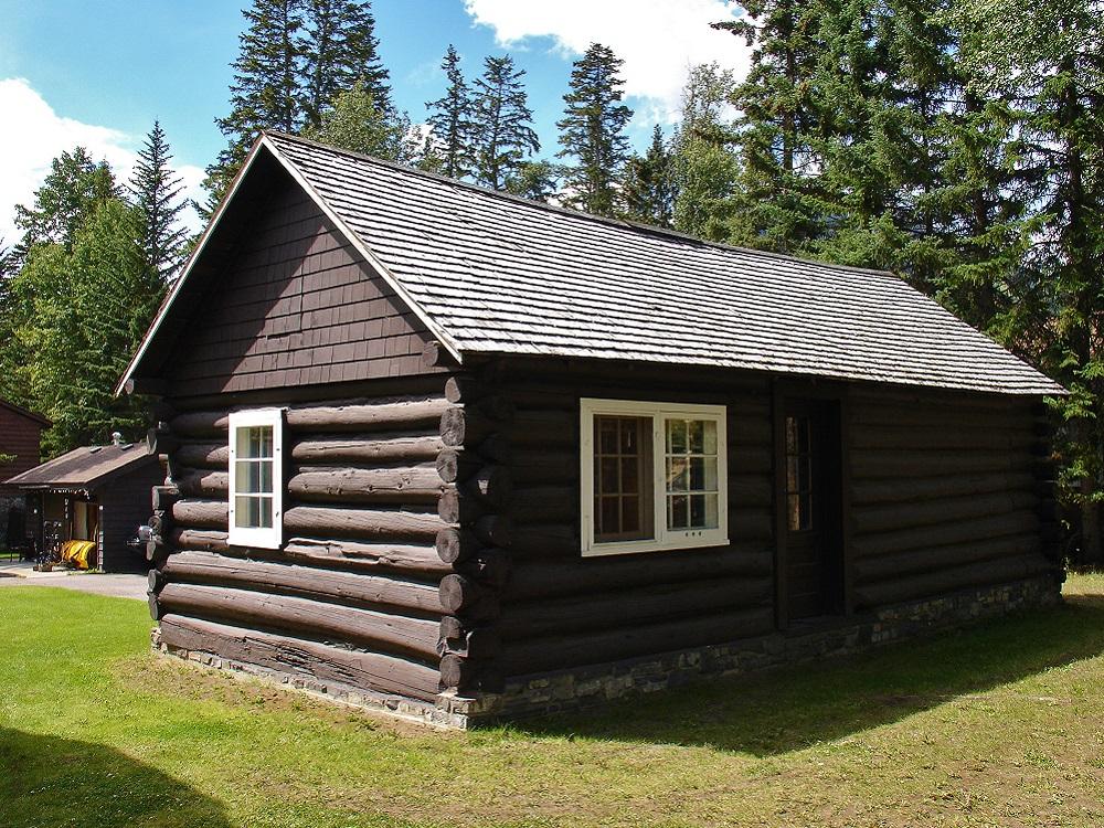 maison en bois à Banff