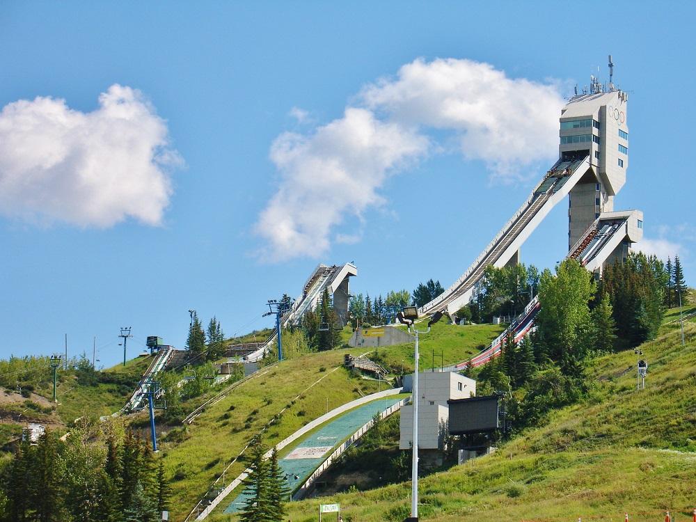 rampe de saut à sky au parc olympique de calgary