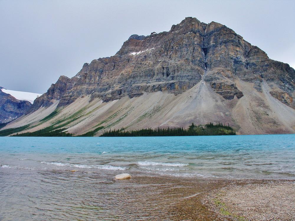 vue du lac Bow face au glacier