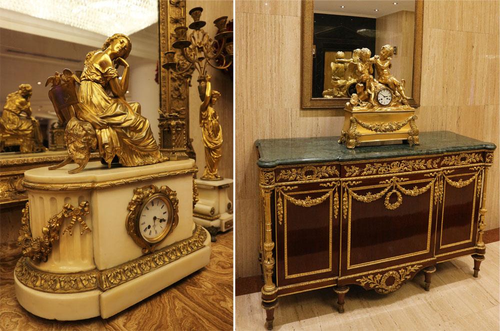 horloges style baroque Melia White House Hotel