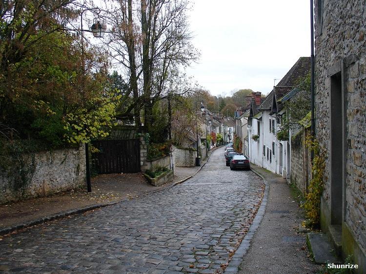 ruelle pavée à Samois-sur-Seine
