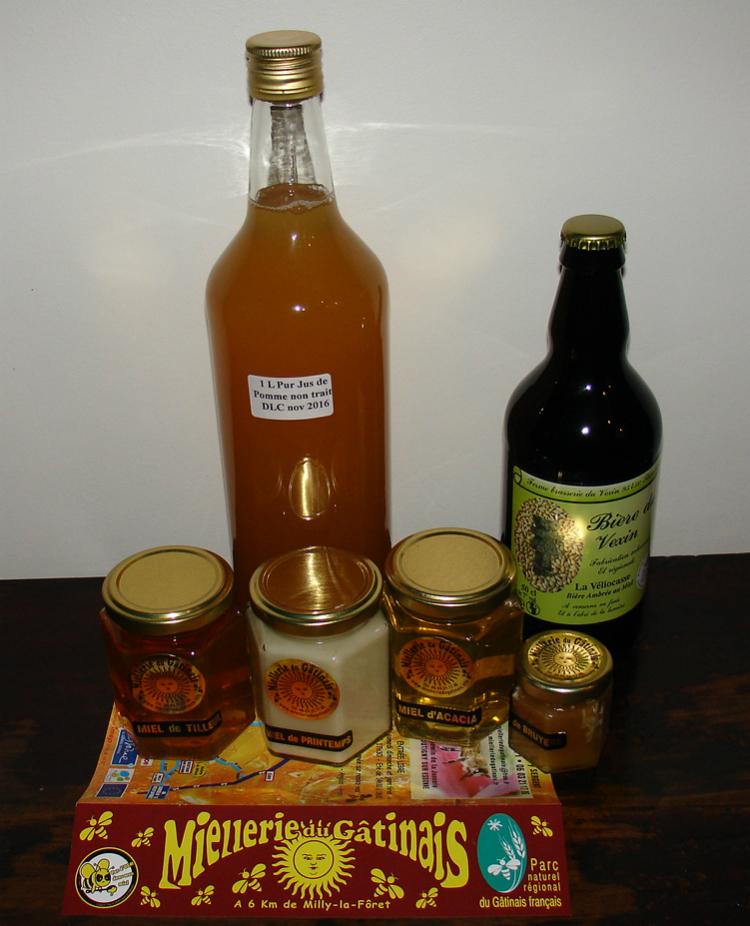 Miels provenant de la Miellerie du gâtinais