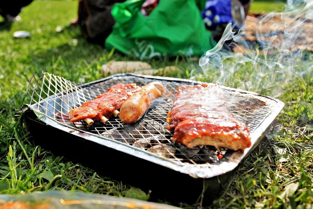 barbecue dans parc grunerhagen près de la rivière Akerselva
