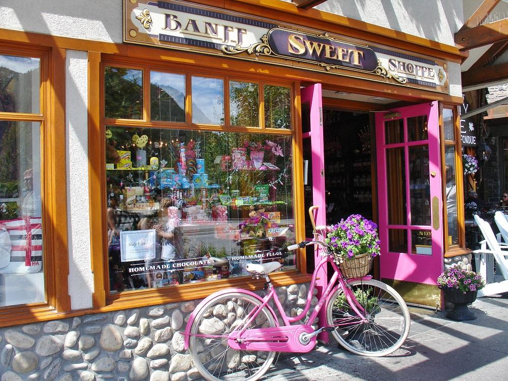 boutique de bonbons à Banff