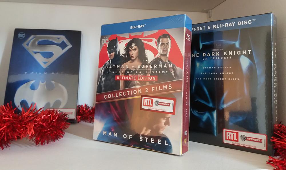 coffret Wonder Woman Batman vs Superman Blu-ray