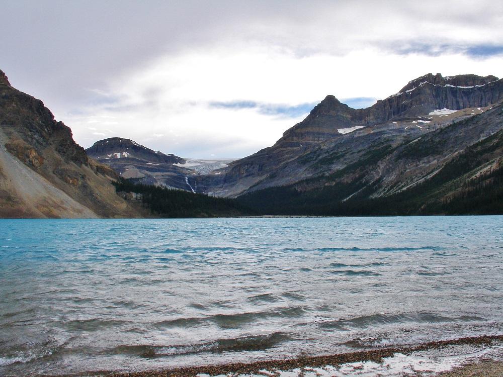 glacier Crowfoot vu du lac Bow
