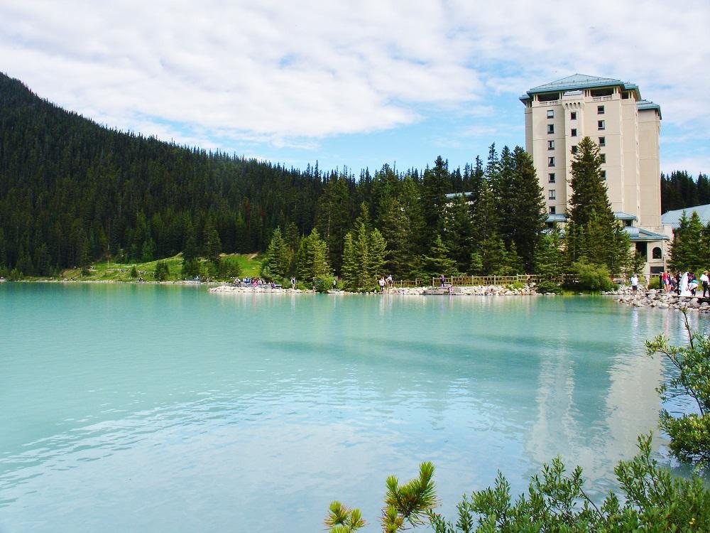hotel fairmont chateau vu du lake louise