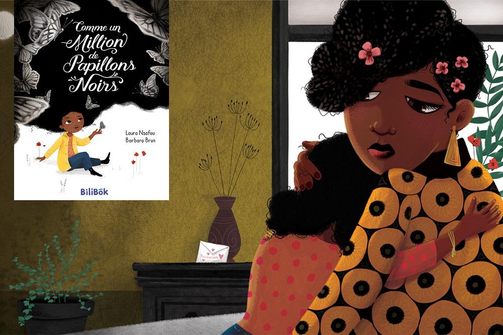 Illustration extraite de «Comme un million de papillons noirs», Laura Nsafou et Barbara Brun, Bilibok (2017)
