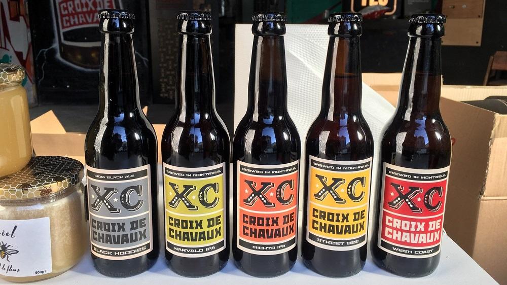 bières de la Brasserie Croix de Chavaux à Montreuil